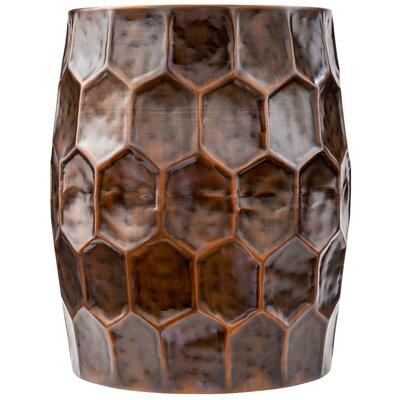 Ohalloran Honeycomb Accent Stool Color: Antique Bronze