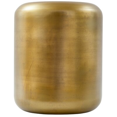 Ohanlon Capsule Accent Stool Color: Antique Brass