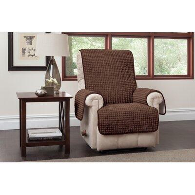 Box Cushion Recliner Slipcover Upholstery: Chocolate