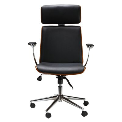 Redmayne Swivel Genuine Leather Office Chair