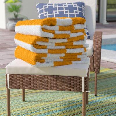 Ravenworth 100% Cotton Beach Towel Color: Yellow