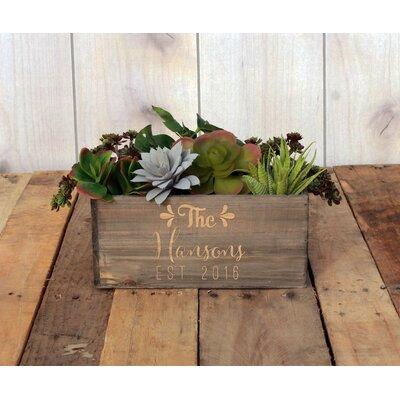 Mathewson Personalized Wood Planter Box