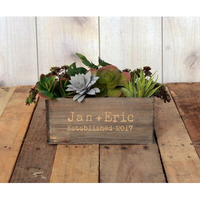 McAllen Personalized Wood Planter Box