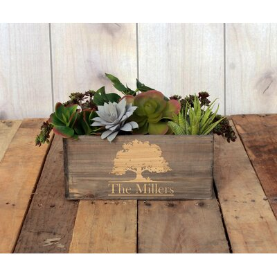 Mccutcheon Personalized Wood Planter Box
