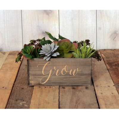 Marysville Personalized Wood Planter Box