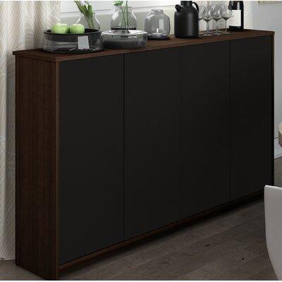 4 Door Accent Cabinet Color: Dark Chocolate/Black