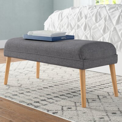 Raleigh Upholstered Ottoman Upholstery: Light Gray