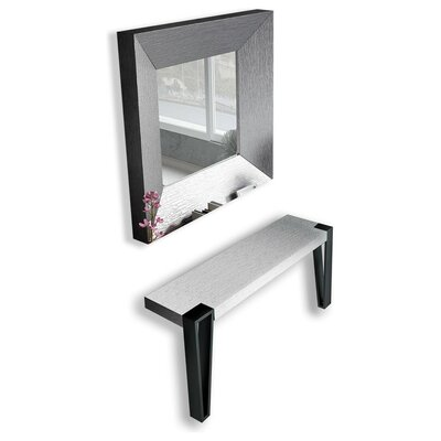 Jeramiah Console Table and Mirror Set Color: Matte