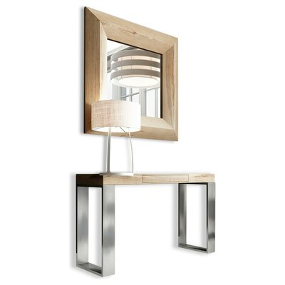 Clemens Console Table and Mirror Set Color: High Gloss