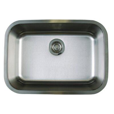 """Stellar 25"""" L x 18"""" W Medium Single Bowl Undermount Kitchen Sink"""
