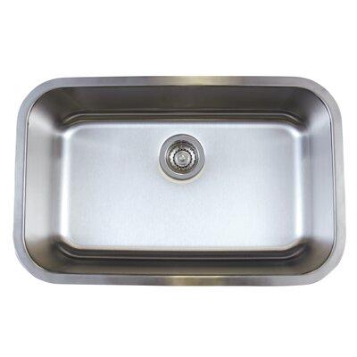 """Stellar 28"""" L x 18"""" W Super Single Bowl Undermount Kitchen Sink"""