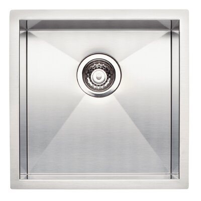 "Quatrus 17"" L x 17"" W Bowl Bar Sink Kitchen Sink"
