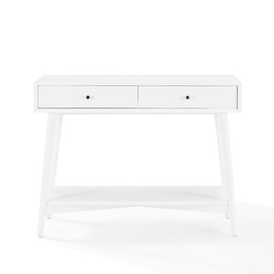 Easmor Console Table Color: White