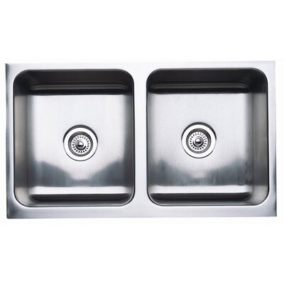 "Magnum 32"" L x 18.5"" W Equal Double Bowl Kitchen Sink"