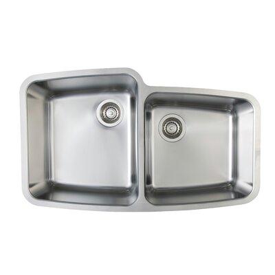 """Performa 33.13"""" L x 20"""" W Medium Bowl Undermount Kitchen Sink"""