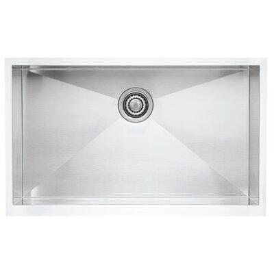 """Precision 32"""" L x 19"""" W Super Single Bowl Kitchen Sink"""