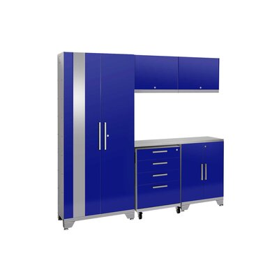 Performance 2.0 6 Piece Storage Cabinet Set Finish: Blue, Worktop Material: Stainless Steel