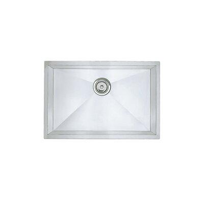 "Precision 25"" L x 18"" W Single Bowl Undermount Kitchen Sink"