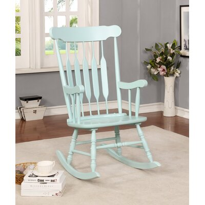 Jerard Rocking Chair Finish: Blue