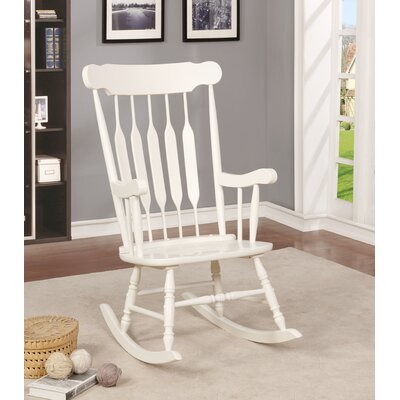 Jerard Rocking Chair Finish: White