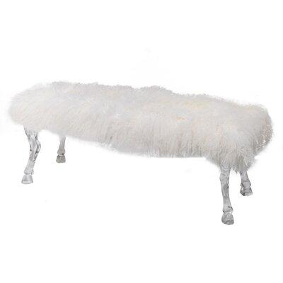 Frison Bench Color: White