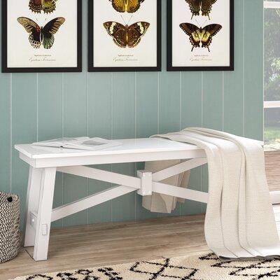 Ellport Wood Bench Color: White