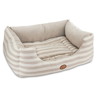 """Striped Reversible Cozy Pet Cuddler Bolster Size: Extra Large - 35"""" W x 28"""" D x 12"""" H"""