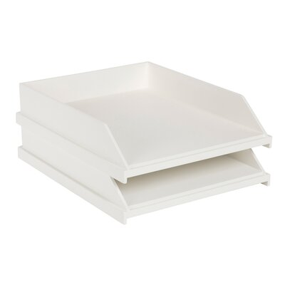 Bouton Wood Stackable Paper Organizer Finish: White