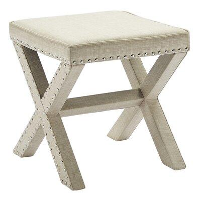 Yaeger Upholstered Single Stud Bench Color: Beige
