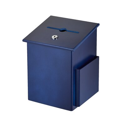 Wood Drop Box Mailbox Color: Blue