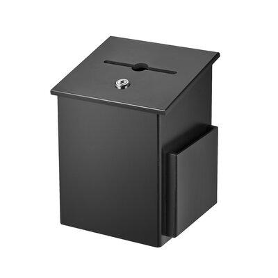 Wood Drop Box Mailbox Color: Black