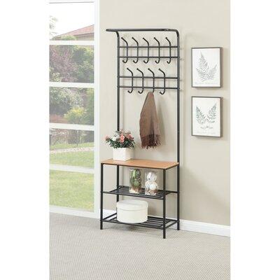 Mcrae Metal Coat Rack with 3 Shelves