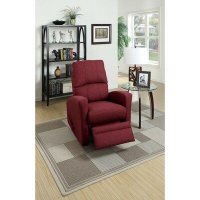 Charette Swivel Manual Recliner Upholstery: Red