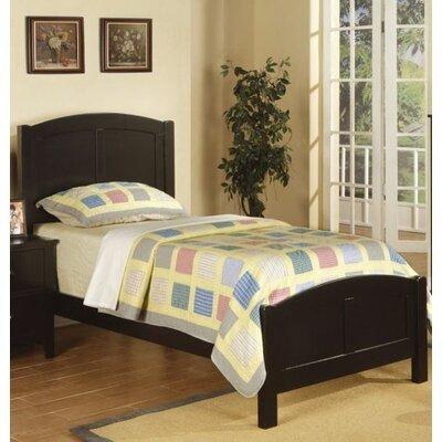 Faust Wooden Twin Platform Bed Bed Frame Color: Black