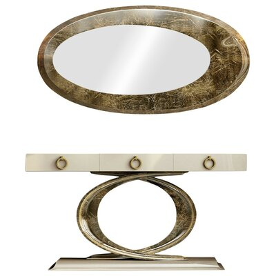 """Laivai Console Table and Mirror Set Size: 29.5"""" H x 39.2"""" W x 15.6"""" D"""