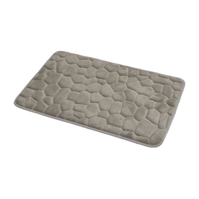 3D Cobble Stone Shaped Memory Foam Bath Rug Color: Taupe