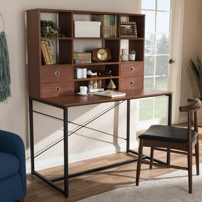 Caufield Writing Desk with Hutch