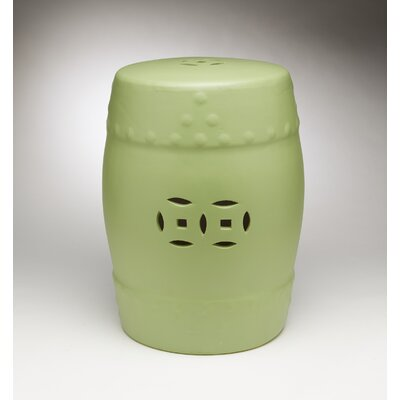 Finley Garden Stool Color: Green