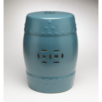 Finley Garden Stool Color: Teal Blue