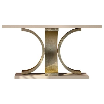 "Laivai Console Table Size: 29.5"" H x 39.4"" W 15.6"" D, Color: High Gloss"