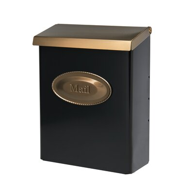 Designer Locking Wall Mounted Mailbox Mailbox Color: Black and Brushed Bronze