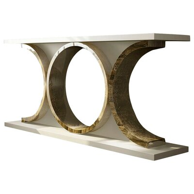 "Laivai Console Table Size: 29.5"" H x 59"" W x 15.6"" D, Color: High Gloss"