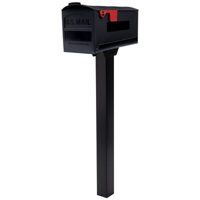 "Patriot Post Mounted Mailbox Size: 9.8"" H x 7.9"" W x 20.4"" D"