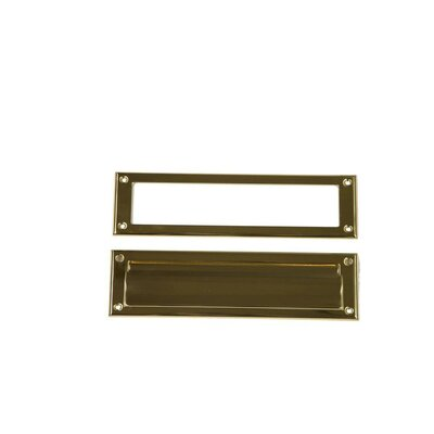 11.5 in x 3 in Steel Mail Slot Color: Brass
