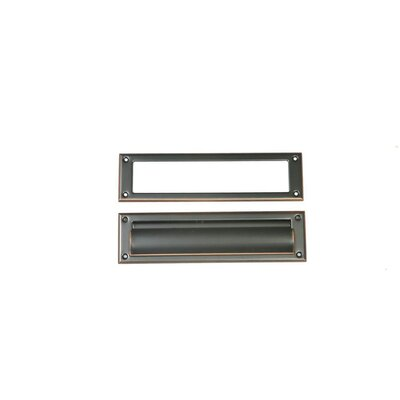 11.5 in x 3 in Steel Mail Slot Color: Rubbed Bronze