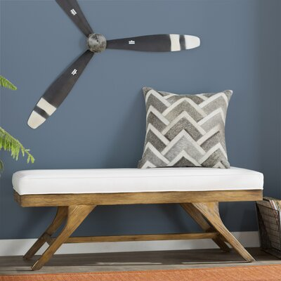Albertine Wood Bench Color: Smoke
