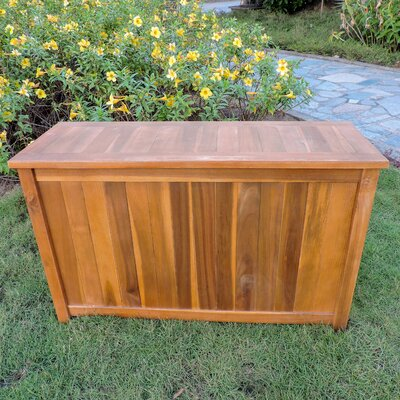 Highlawn Acacia Flip Top Solid Wood Deck Box Finish: Brown