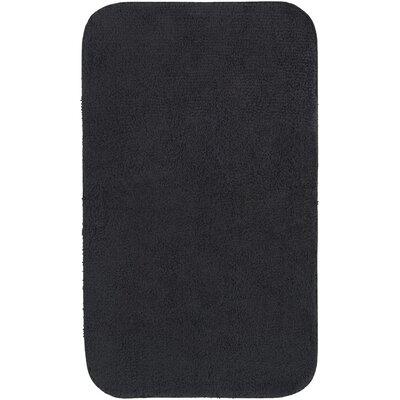 """Castleberry Bath Mat Size: 20"""" W x 34"""" L, Color: Black"""