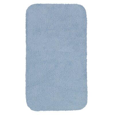 """Castleberry Bath Mat Size: 20"""" W x 34"""" L, Color: Blue Mist"""