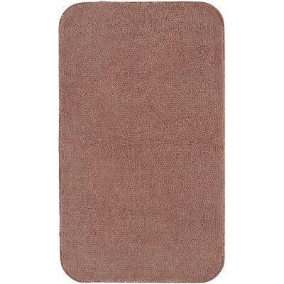 """Castleberry Bath Mat Size: 20"""" W x 34"""" L, Color: Terracotta"""